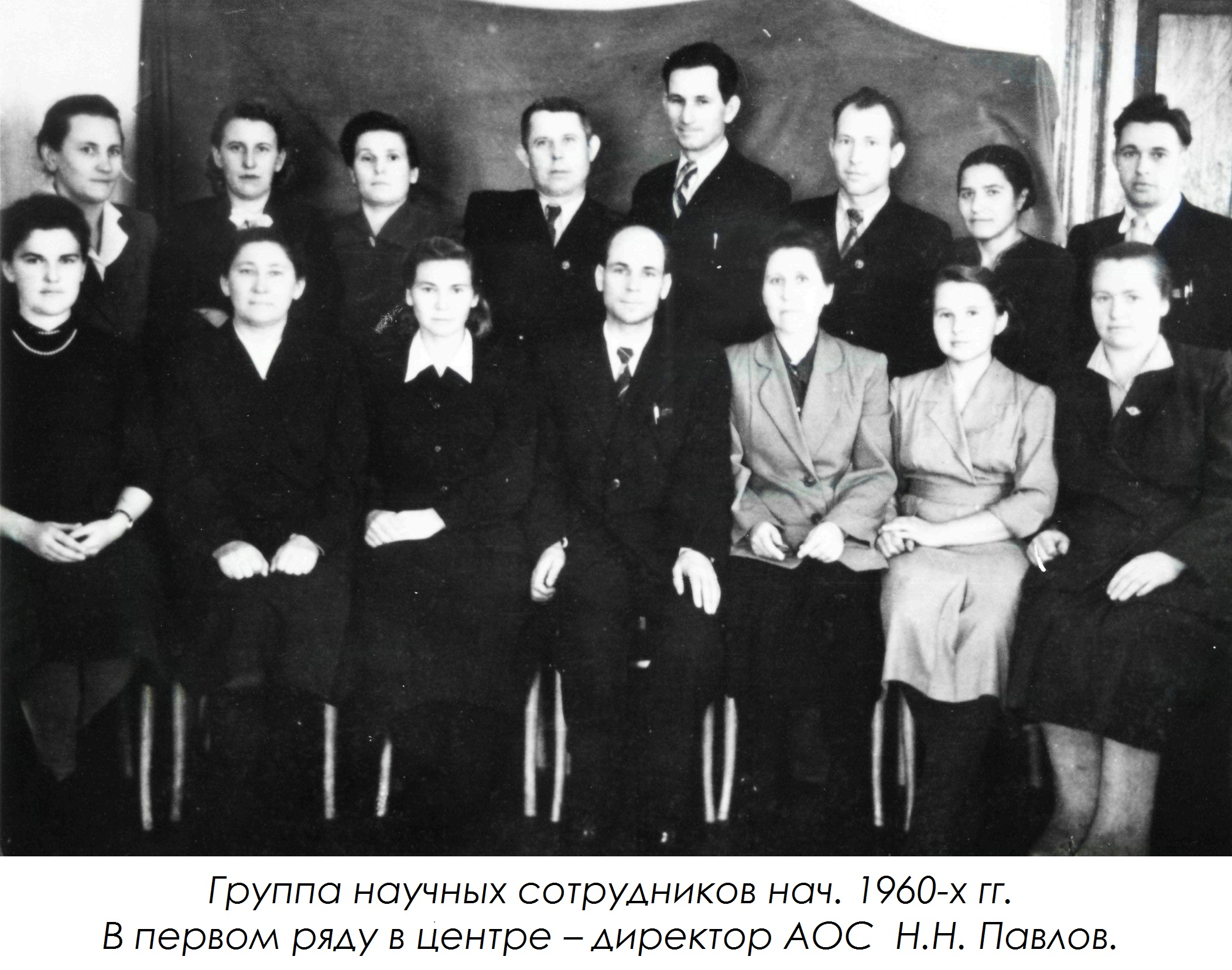 Группа научных сотрудников нач. 1960-х гг.1